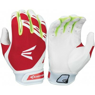 Easton HF7 Womens Fastpitch Batting Gloves White/Red A121882
