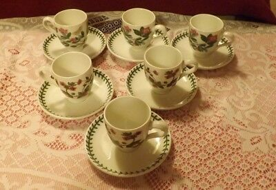Portmeirion Coffee / Expresso Cups & Saucers