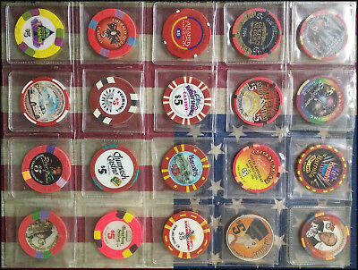 20 assorted $5 Casino Chips
