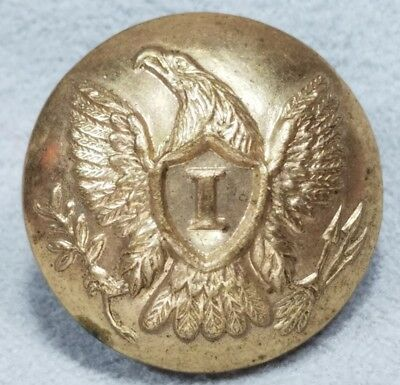 Original Civil War Federal Infantry Coat Button W.G.Mintzer Phila Backmark