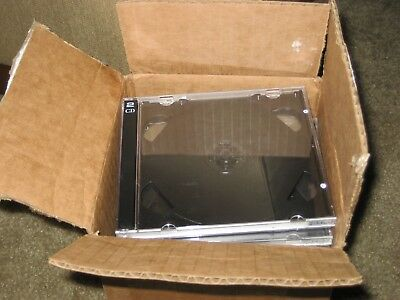 24 STANDARD Black Double CD Jewel Case - Excellent Condition - Free Shipping