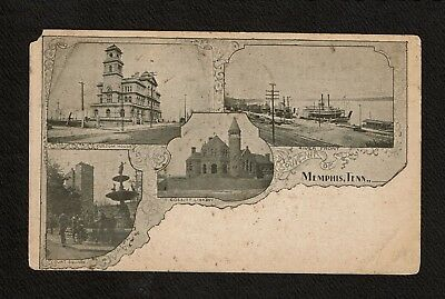 Memphis TN Tennessee Multi View Library River Front Square Custom House Postcard
