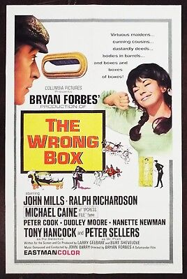 The Wrong Box 1966 Michael Caine Nanette Newman Original US One Sheet Poster