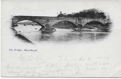 Musselburgh - The Bridges 1902 Used RPPC (Pub.Unknown) - VGC !