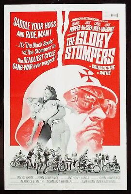 The Glory Stompers 1967 Dennis Hopper Original US One Sheet Poster