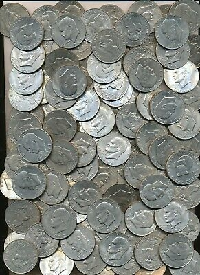 Lot Of 100 Mixed Date Ike Eisenhower Dollars 1971 To 1978
