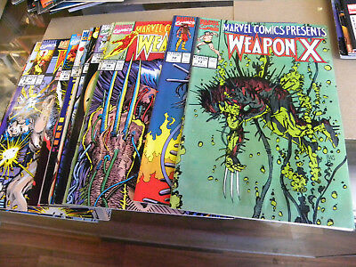 Marvel 1991 MARVEL COMICS PRESENTS all 13 ishs WEAPON X #72 to #84 Wolverine kv