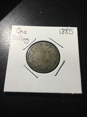1885 UK One Shilling Great Britain  ( 92.5% Silver) #1001