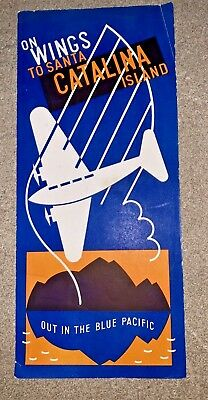 1937 ON WINGS TO CATALINA ISLANDS Brochure - WILMINGTON-CATALINA AIRLINE