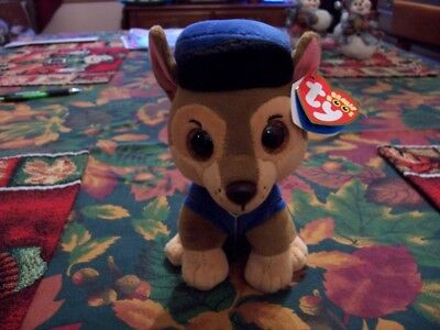 Adorable Ty Beanie Boos Paw Patrol Chase The German Shepherd Collect All 6 New !