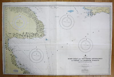 Solomon Sea Huon Gulf Southern Approaches Vitiaz Dampier Straits New Britian map
