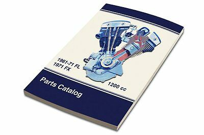 Spare Parts Catalog  For Hd Bt Panhead And Shovelhead Fl/fx Models 1961-1971