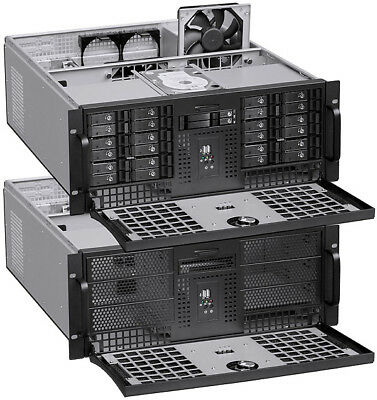 "4U (6x5.25""+ 7x3.5""Bay)(Stylish w 24"" Rail)(Rackmount Chassis)(ATX/ITX Case) NEW"