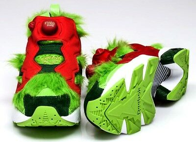 ac4feb42130 Mens Reebok Instapump Fury Cv Grinch Sneakers Bd4758-Shoes Size 7.5 Nwb