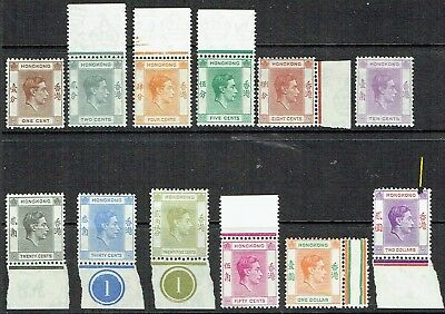 Hong Kong 1946-52 Gvi Mixed Lot X 12. $2.pulled Perf..mlh. As Is See Scan