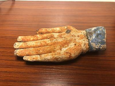 RARE Ancient Egyptian large stone hand hacked from statue, early dynastic 3150