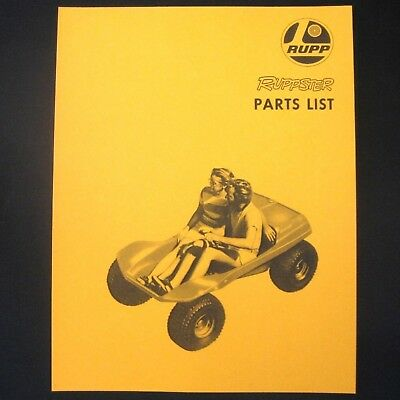 MANUAL - Vintage Parts Ruppster Dune Buggy -- RUPP