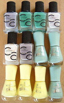 12X Nagellack Catrice ICO Nail Gel 25+27+17+13+22 Essece The Gel Nail 83+38 Neu