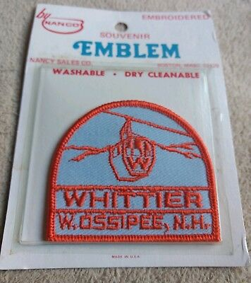 Vintage Mt. Whittier Lost Resort NH Ski Skiing Travel Patch N.O.S.