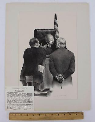 Authentic Pencil Signed Joseph Hirsch, Lawyers & Judge, Lithograph