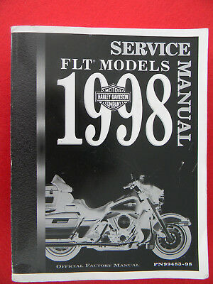 Harley Davidson 1998 FLT Models SERVICE MANUAL  99483-98  brute of a book !