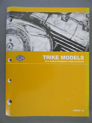 Harley Davidson 2010 TRIKE Models PARTS CATALOG  99602-10