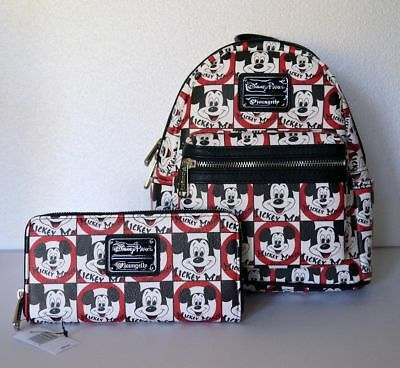 Disney Parks Loungefly Mickey Mouse Club Mouseketeers Backpack & Wallet NWT