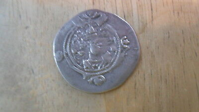 Ancient Silver Coin Sassanian Empire Kavad I Fire Altar Second Reign Drachm Greek (450 Bc-100 Ad)