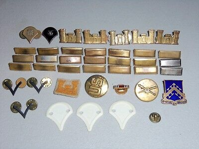 WWII Military Brass Uniform US Army Corps of Engineers Pins