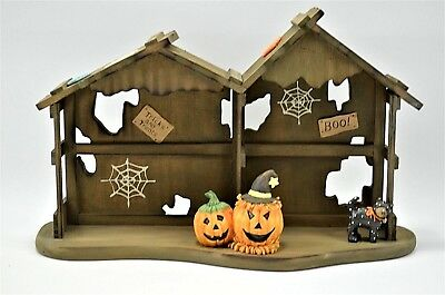 Enesco Calico Kittens Halloween House Displayer 1994  #655562 w/ Box