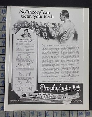 1923 Dentistry Medical Prophylactic Toothbrush Florence Co Vintage Ad Dm44