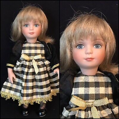 "9"" Bisque & Cloth Blonde Girl By Marie Osmond, Le #747, 2007"