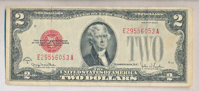 1928 G $2.00 United States Note ~Red Seal~ **nicely Circulated** Free Shipping!