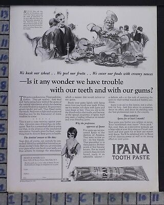 1925 Ipana Toothpaste Dental Dentist Flapper Health Vintage Art Ad  Bz72