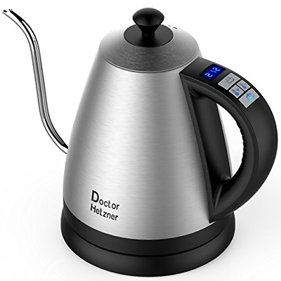 Electric Kettle with Variable Temperature, 1.2L Gooseneck Pour-Over Kettle for