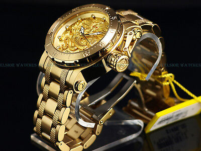 """Invicta Men 52mm Coalition Forces """"FIRE PHOENIX"""" Automatic 18K Gold Plated Watch"""