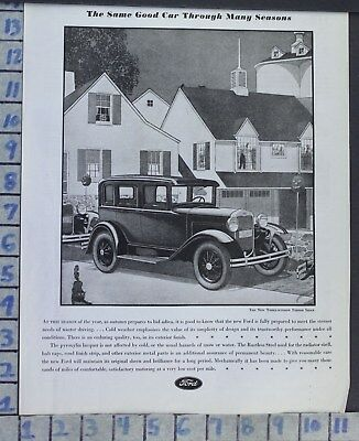 1930 Ford Three Window Sedan Halloween Pumpkin Party Car Auto Vintage Ad  Cc51