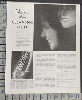 1929 Colgate Dental Bathroom Tooth Paste Home Decor Brush Vintage Art Ad  Bp93