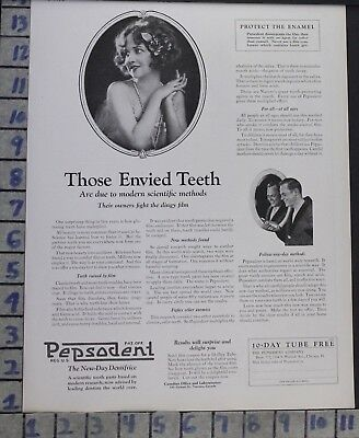 1924 Pepsodent Dental Bathroom Tooth Paste Home Decor Brush Vintage Ad  Bp82