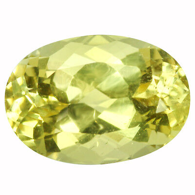 3.02Ct VVS Oval Cut 11 x 7 mm 100% Natural Yellow Beryl