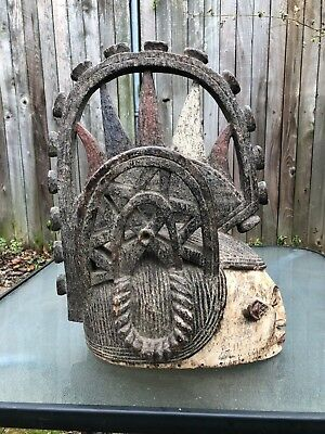 """Large African Wooden Hand-carved Wooden Piece 21"""" x 16"""" x 11"""""""