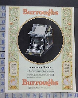 1928 Burroughs Accounting Machine Adding Accountant Ledger Vintage Ad  Cs32