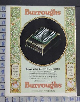 1928 Burroughs Electric Calculator Adding Accountant Register Vintage Ad  Cs28