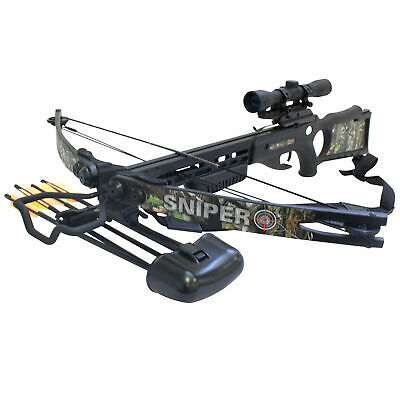 SAS Sniper 150lbs Next G1 Camo Crossbow Package Hunting Deer with Quiver Arrows