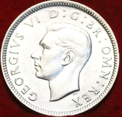 Uncirculated 1942-S Great Britain Shilling Silver Foreign Coin