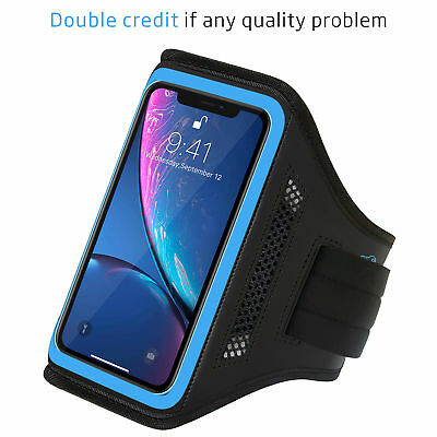 Blue New Armband Sport Running Exercise Gym Sportband Case for iPhone XR