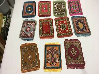 MIXED LOT OF 11 Antique Vintage Dollhouse Doll Miniature CIGAR CIGARETTE Rugs