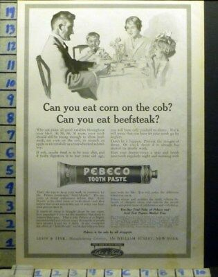 1918 Pebeco Tooth Paste Dental York Dentist Family Child Health Art Ad  Av05