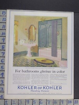 1928 Kohler Sink Fixture Bathroom Tub Plumb House Home Decor Vintage Ad  Cn87