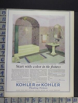 1928 Kohler Sink Kitchen Fixture Bathroom Tub Home Decor Vintage Art Ad  Cn86